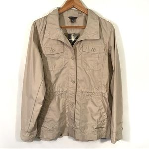 NWT Eddie Bauer Khaki Utility Jacket Button Down